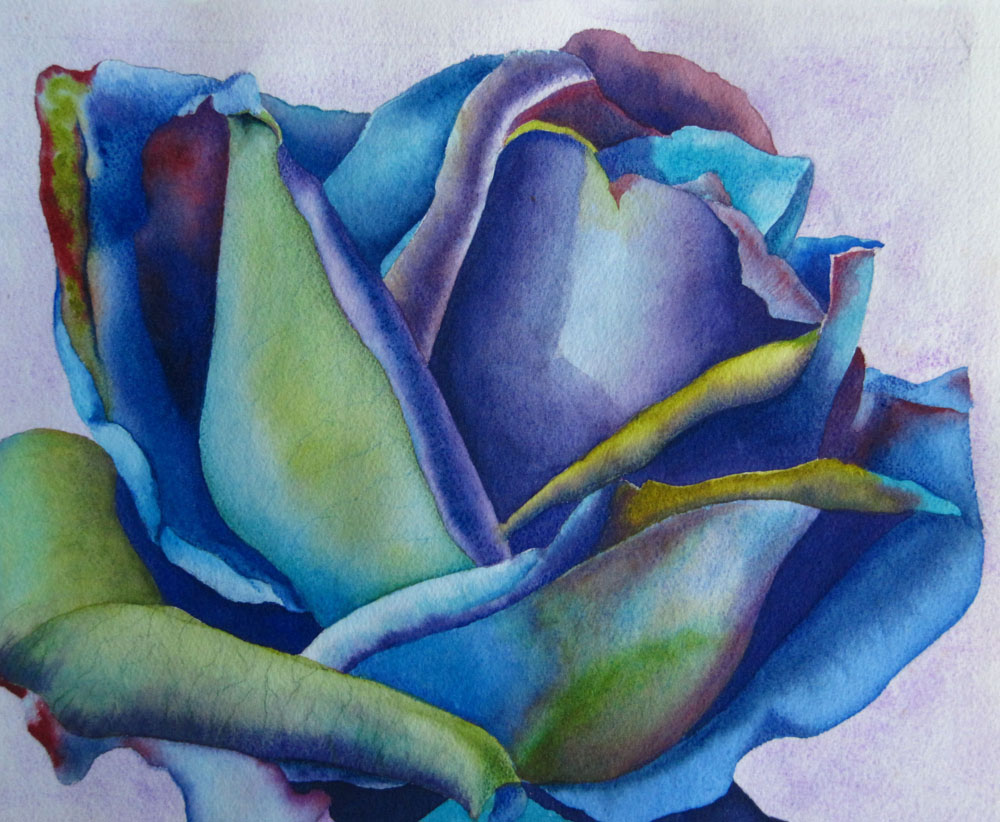 Fine Art Watercolor Painting Flowers Roses